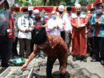 Gubernur Olly letakan batu pertama pembangunan menara Mesjid Raya