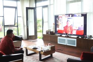Gubernur Sulawesi Utara Olly Dondokambey mengikuti Entry Meeting LKPD Sulut dengan BPK