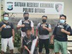 Tim Resmob Sat Reskrim Polres Bitung mengamankan seorang lelaki yang diduga melakukan penganiayaan menggunakan sajam jenis Samurai