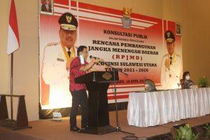 Sekdaprov Silangen membuka penyempurnaan rancangan awal Rencana Pembangunan Jangka Menengah Daerah (RPJMD) Provinsi Sulawesi Utara Tahun 2021-2026