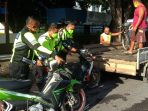 Satuan Lalu Lintas (Satlantas) Polres Bitung amankan barang bukti peserta balap liar