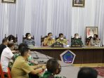 Gubernur Sulawesi Utara Olly Dondokambey memimpin pertemuan Forum Kerukunan Umat Beragama (FKUB) dan Forkopimda Sulut