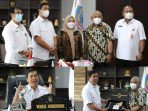 Wakil Gubernur (Wagub) Steven Kandouw didampingi Asisten II Praseno Hadi dan Kepala Dinas Pariwisata Pemerintah Provinsi Sulawesi Utara (Pemprov. Sulut), Henry Kaitjily