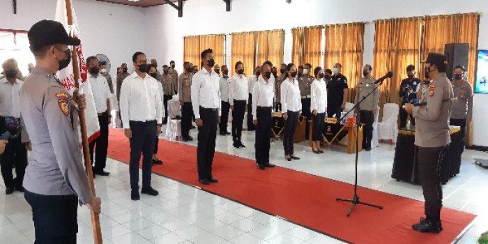 Kapolda Sulawesi Utara (Sulut) Irjen Pol Nana Sudjana mengukuhkan Pengurus Cabang PBVSI Kabupaten Minahasa dan Kota Tomohon