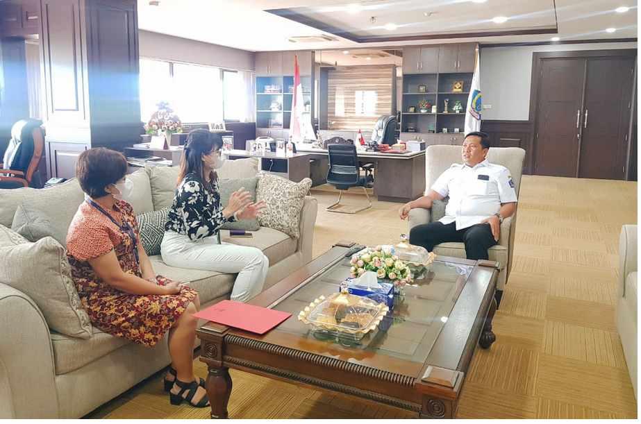 Wakil Gubernur Sulawesi Utara (Wagub Sulut) Steven O.E. Kandouw menerima Audensi dari PT. Garuda Indonesia Cabang Manado di ruang kerjanya