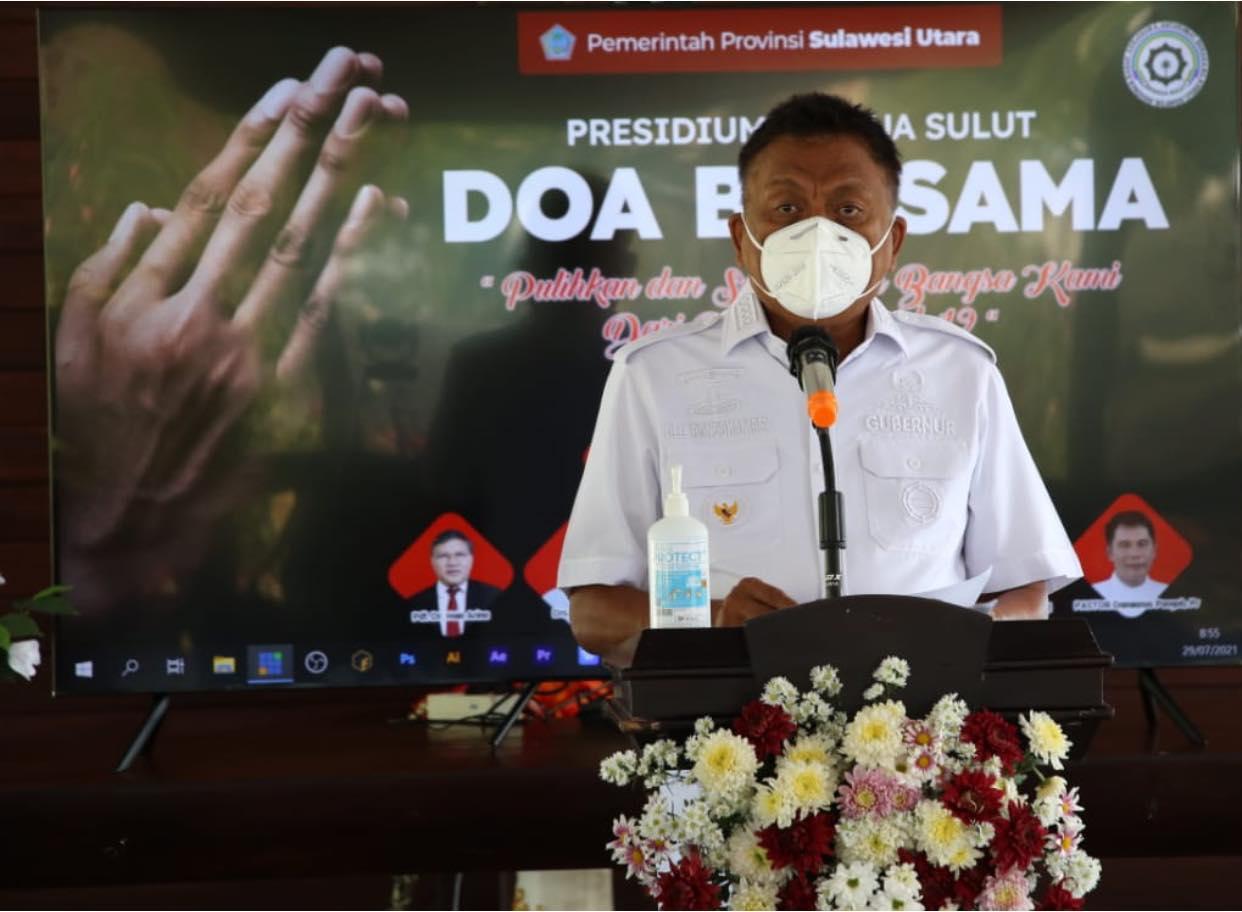Doa Bersama BKSAUA, Gubernur Olly Katakan Perlu Dukungan Warga Pulihkan Pandemi